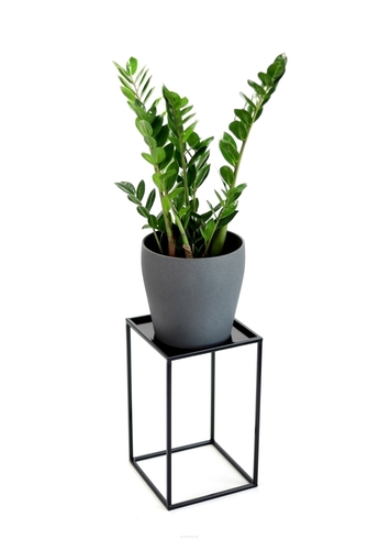 Flowerbed LOFT metal stand for one pot 40cm black