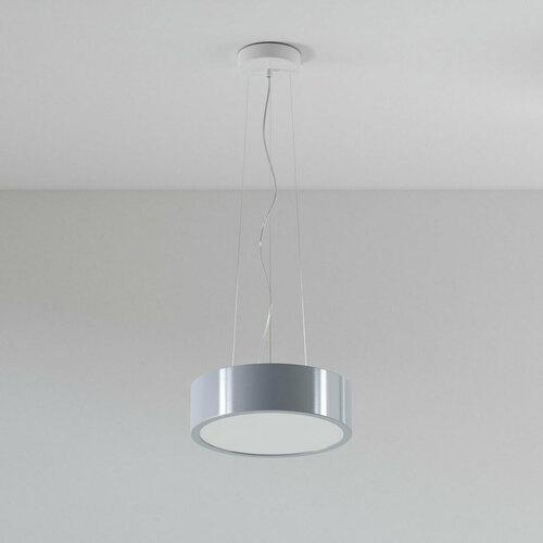 ABA 350 hanging 2x23W, E27, 230V, aluminum silver (gloss) RAL 9006