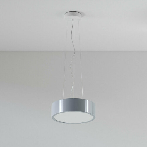 ABA 350 pendant LED 23W / 2231lm / 3000K, 230V, aluminum silver (gloss) RAL 9006