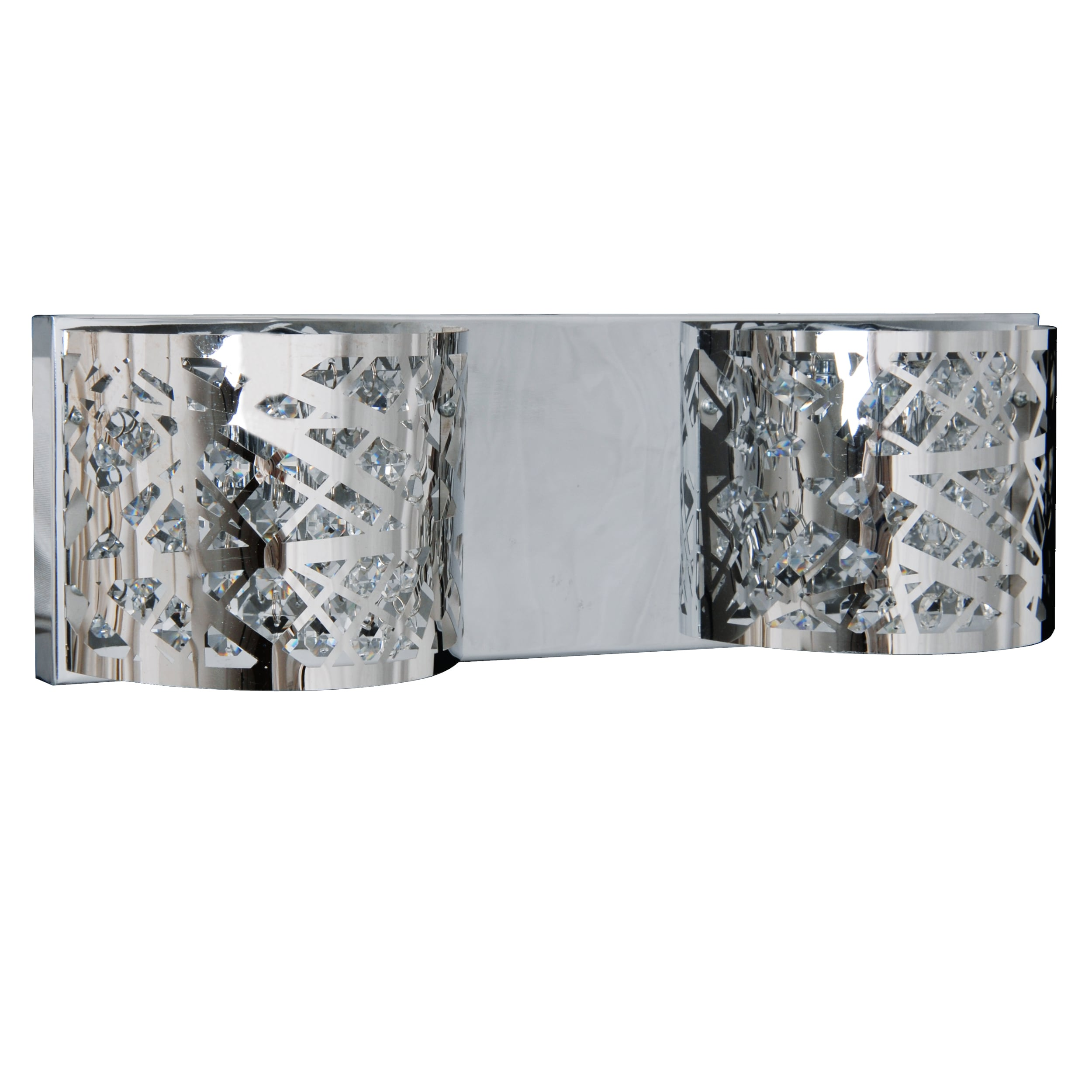 Two-point silver wall lamp Cairo