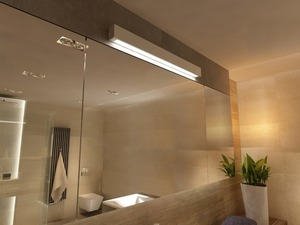 White wall lamp for bathroom Ibros IP44 large small 1