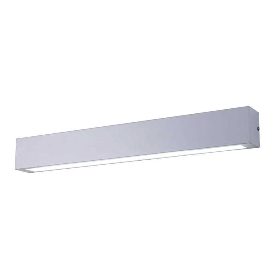 White wall lamp for bathroom Ibros IP44 large
