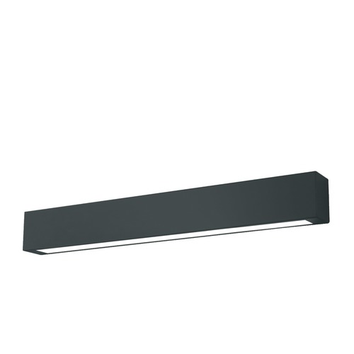 Black bathroom sconce Ibros IP44 medium