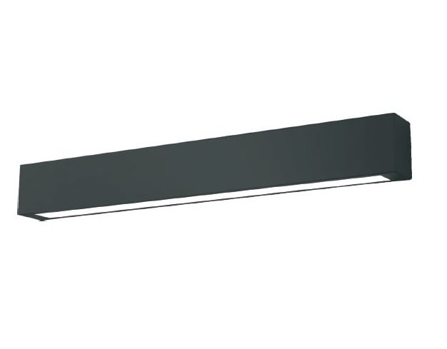 Black wall lamp for bathroom Ibros IP44 large