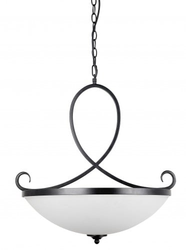 Hanging lamp with white shade Cuneo