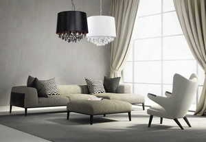 White pendant lamp in the style of Glamor VIGO small 1