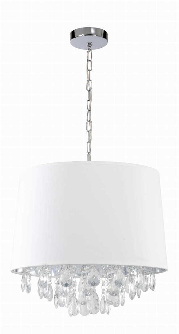 White pendant lamp in the style of Glamor VIGO