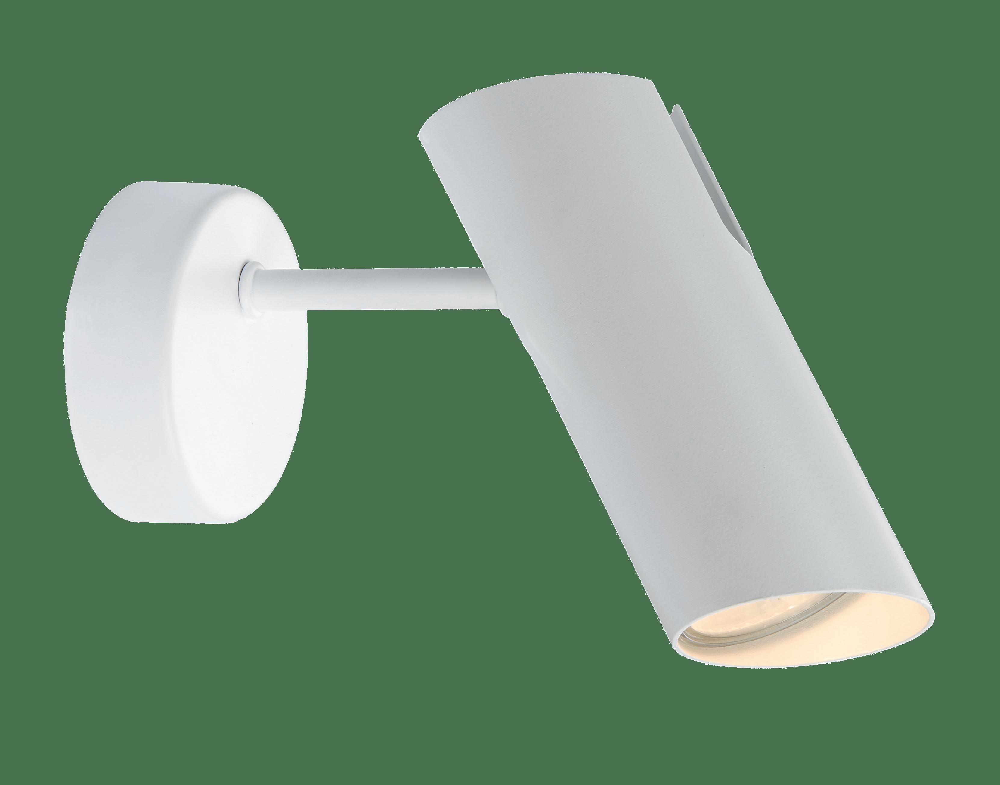 White minimalistic Futuro 1 wall lamp