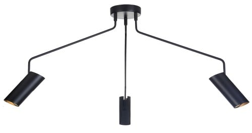 Loft Three-armed black pendant lamp Futuro 3