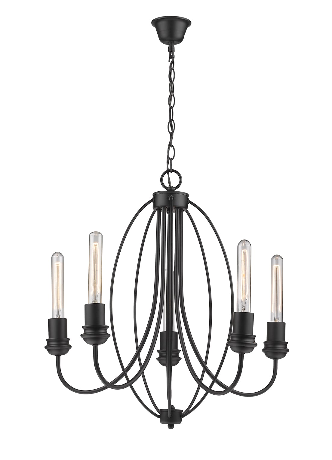 Wire five-point pendant lamp Canaria 5