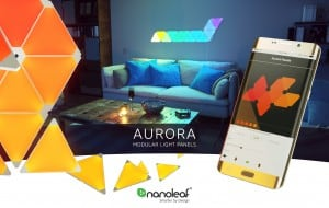 Flexible connectors Nanoleaf Aurora Linkers - assembly of panels at an angle small 3