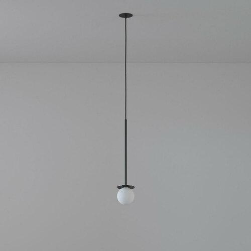 COTTON 400 fi100 hanging inlet max. 1x1.9W, G9, 230V, black wire, deep black (gloss) RAL 9005