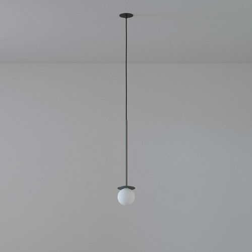COTTON 400 fi100 hanging inlet max. 1x1.9W, G9, 230V, black wire, graphite gray (mat) RAL 7024
