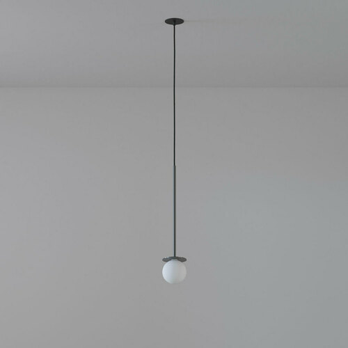COTTON 400 fi100 hanging inlet max. 1x1.9W, G9, 230V, black wire, graphite gray (gloss) RAL 7024