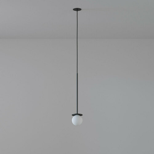 COTTON 450 fi100 hanging inlet max. 1x1.9W, G9, 230V, black wire, black (mat) RAL 9017