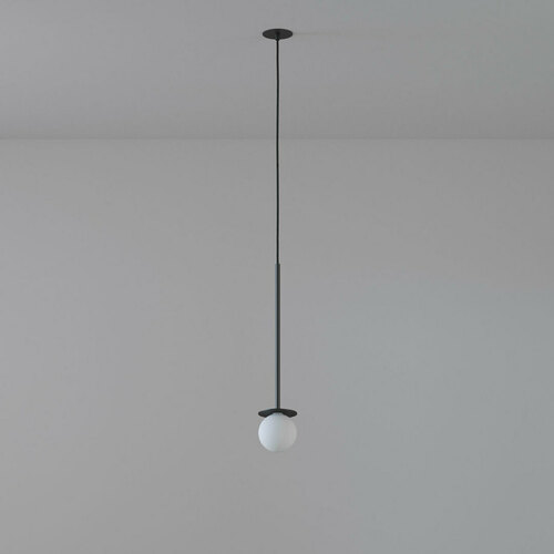 COTTON 450 fi100 hanging inlet max. 1x1.9W, G9, 230V, black wire, deep black (mat structure) RAL 9005