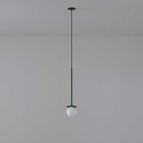 COTTON 450 fi100 hanging inlet max. 1x1.9W, G9, 230V, black wire, deep black (gloss) RAL 9005