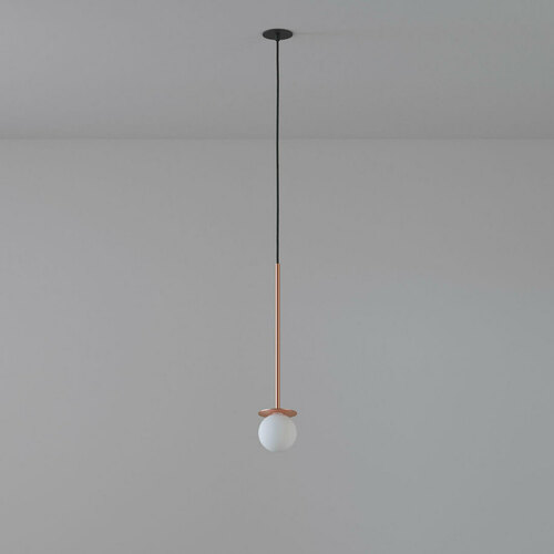 COTTON 450 fi100 hanging inlet max. 1x1.9W, G9, 230V, black wire, copper color (smooth mat)