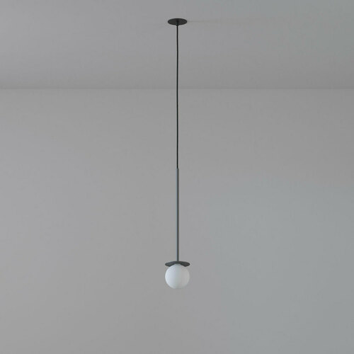 COTTON 450 fi100 hanging inlet max. 1x1.9W, G9, 230V, black wire, graphite gray (mat structure) RAL 7024
