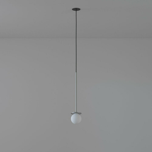 COTTON 500 fi100 hanging inlet max. 1x1.9W, G9, 230V, black wire, silver color (smooth mat)