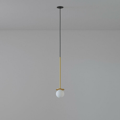 COTTON 500 fi100 hanging inlet max. 1x1.9W, G9, 230V, black wire, gold color (smooth mat)