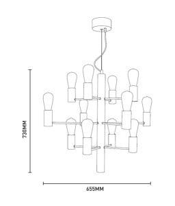 INTERIOR LAMP (HANGING) ZUMA LINE CANDEL PENDANT HP1811-12 small 2