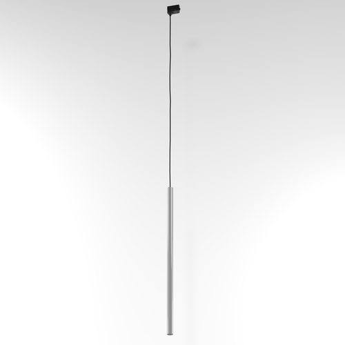 NER 550 hanging track, max. 1x2.5W, G9, 230V, black wire, aluminum silver (gloss) RAL 9006