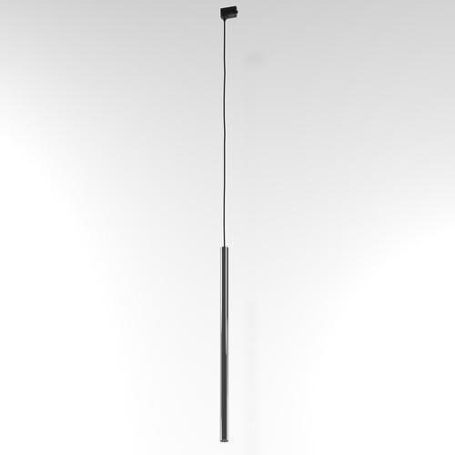 NER 550 hanging track, max. 1x2.5W, G9, 230V, black wire, graphite gray (gloss) RAL 7024