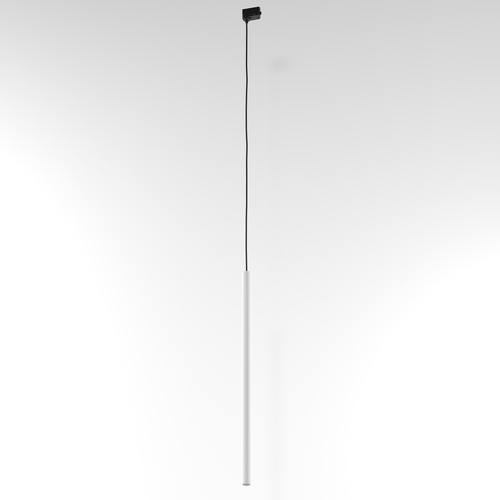 NER 600 hanging track, max. 1x2.5W, G9, 230V, black wire, white (mat structure) RAL 9003