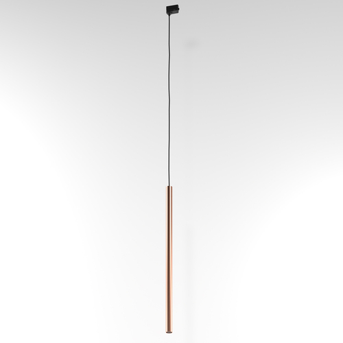 NER 600 hanging track, max. 1x2.5W, G9, 230V, black wire, copper color (smooth mat)