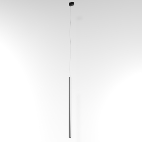 NER 600 hanging track, max. 1x2,5W, G9, 230V, black wire, silver color (smooth mat)
