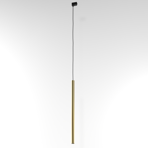 NER 600 hanging track, max. 1x2,5W, G9, 230V, black wire, gold color (smooth mat)