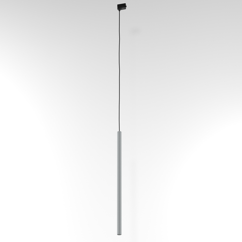 NER 600 hanging track, max. 1x2.5W, G9, 230V, black wire, aluminum silver (mat structure) RAL 9006