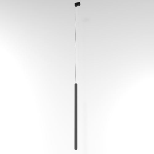 NER 600 hanging track, max. 1x2.5W, G9, 230V, black wire, graphite gray (mat structure) RAL 7024