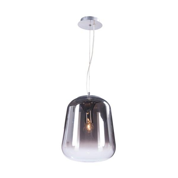Rustic Pendant Lamp Black ZUMA LINE VIDRO PENDANT
