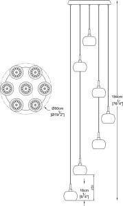 INTERIOR LAMP (HANGING) ZUMA LINE CRYSTAL PENDANT P0076-07M-B5FZ small 2