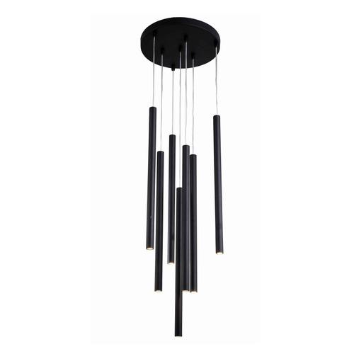 Lungo 7 black pendant lamp