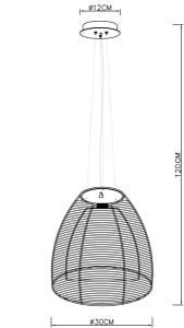 INTERIOR LAMP (HINGE) ZUMA LINE PICO PENDANT MD9023-1L (silver) small 1