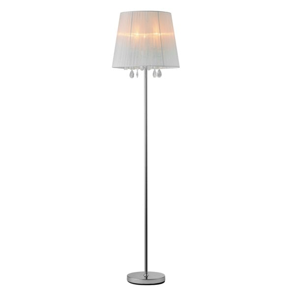 Floor Standing Lamp with Cesar Floor Glamor Crystals