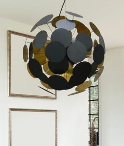 Ceiling Lamp Dots Pendant Black and gold small 1