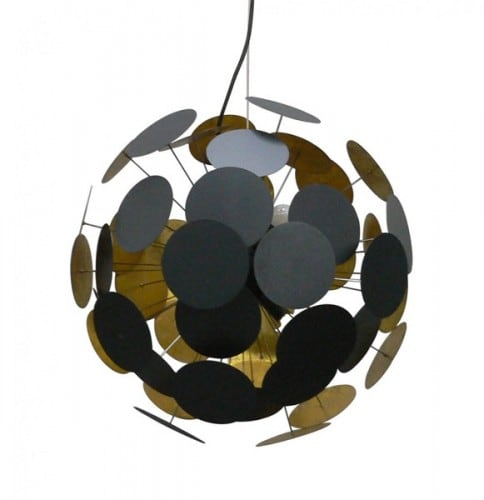 Ceiling Lamp Dots Pendant Black and gold