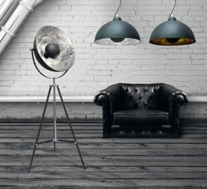 INTERIOR LAMP (HANGING) ZUMA LINE ANTENNE PENDANT TS-071003P-BKSI (shade silver inside) small 2