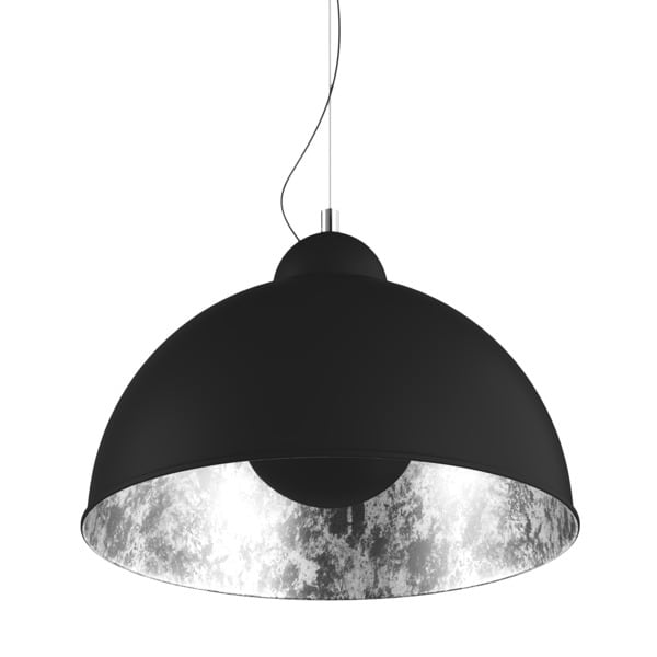 INTERIOR LAMP (HANGING) ZUMA LINE ANTENNE PENDANT TS-071003P-BKSI (shade silver inside)