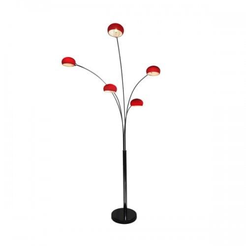 INTERIOR LAMP (FLOOR) ZUMA LINE VENTI FLOOR TS-5805G-RE (red) - Red || Black