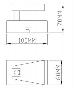 INTERIOR LAMP (KINKIET) ZUMA LINE SPAZIO SPOT CK99603A-1 small 1