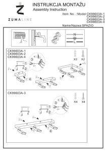 INTERIOR LAMP (KINKIET) ZUMA LINE SPAZIO SPOT CK99603A-1 small 2