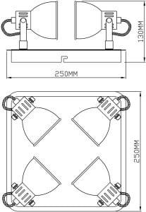 INTERIOR LAMP (CEILING) ZUMA LINE RAVA CEILING CK100008-4 small 2