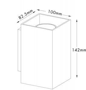 INTERIOR LAMP (KINKIET) ZUMA LINE SANDY WL SQUARE WALL 92697 WHITE small 1