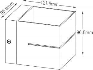 INTERIOR LAMP (SPOT) ZUMA LINE TRANSFER WL 2 91067 (black) small 1