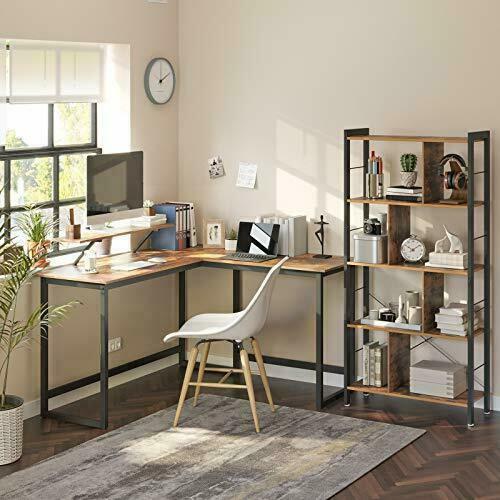 Gaming corner desk rustic brown LWD56X